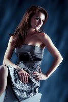 seated girl fashion shot photo