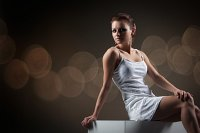 white dress female model photography